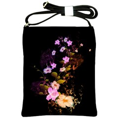 Awesome Flowers With Fire And Flame Shoulder Sling Bags by FantasyWorld7
