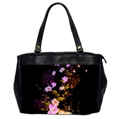 Awesome Flowers With Fire And Flame Office Handbags (2 Sides)  by FantasyWorld7