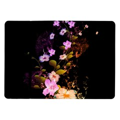 Awesome Flowers With Fire And Flame Samsung Galaxy Tab 10 1  P7500 Flip Case by FantasyWorld7