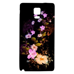 Awesome Flowers With Fire And Flame Galaxy Note 4 Back Case by FantasyWorld7