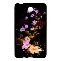 Awesome Flowers With Fire And Flame Samsung Galaxy Tab 4 (8 ) Hardshell Case  by FantasyWorld7