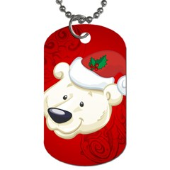 Funny Polar Bear Dog Tag (two Sides) by FantasyWorld7