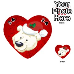 Funny Polar Bear Playing Cards 54 (heart)  by FantasyWorld7