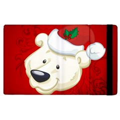 Funny Polar Bear Apple Ipad 2 Flip Case by FantasyWorld7