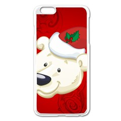Funny Polar Bear Apple Iphone 6 Plus Enamel White Case by FantasyWorld7