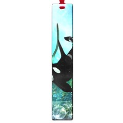 Orca Swimming In A Fantasy World Large Book Marks by FantasyWorld7