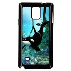 Orca Swimming In A Fantasy World Samsung Galaxy Note 4 Case (black) by FantasyWorld7