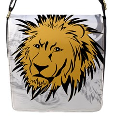 Lion Flap Messenger Bag (s) by EnjoymentArt