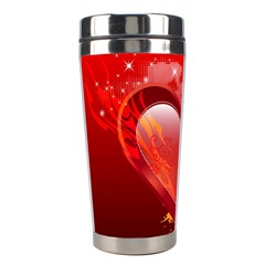 Heart Stainless Steel Travel Tumblers by EnjoymentArt