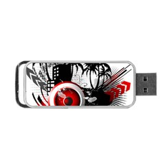 Music, Speaker Portable Usb Flash (two Sides) by EnjoymentArt