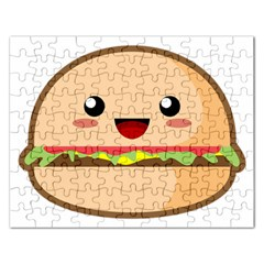 Kawaii Burger Rectangular Jigsaw Puzzl by KawaiiKawaii