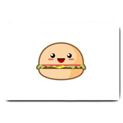 Kawaii Burger Large Doormat