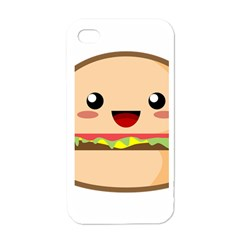 Kawaii Burger Apple Iphone 4 Case (white)