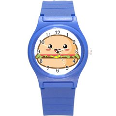 Kawaii Burger Round Plastic Sport Watch (s) by KawaiiKawaii
