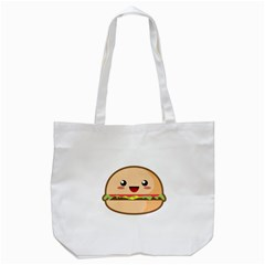 Kawaii Burger Tote Bag (white)