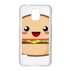 Kawaii Burger Samsung Galaxy S5 Case (white)