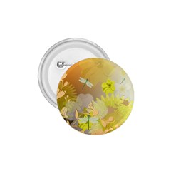 Beautiful Yellow Flowers With Dragonflies 1 75  Buttons