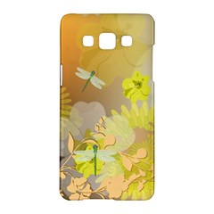 Beautiful Yellow Flowers With Dragonflies Samsung Galaxy A5 Hardshell Case  by FantasyWorld7