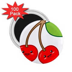 Kawaii Cherry 2 25  Magnets (100 Pack)