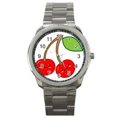 Kawaii Cherry Sport Metal Watches