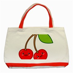Kawaii Cherry Classic Tote Bag (red)