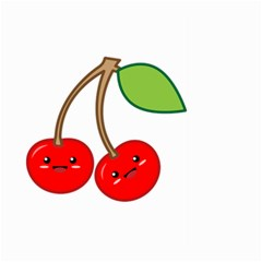 Kawaii Cherry Large Garden Flag (two Sides)