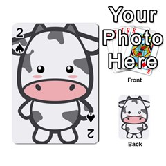 Kawaii Cow Playing Cards 54 Designs  by KawaiiKawaii