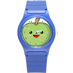 Kawaii Green Apple Round Plastic Sport Watch (s) by KawaiiKawaii