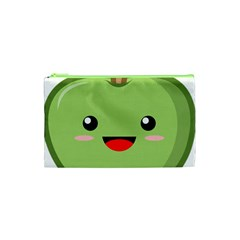 Kawaii Green Apple Cosmetic Bag (xs)