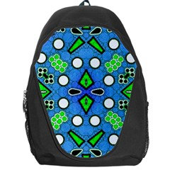 Florescent Blue Green Abstract  Backpack Bag by OCDesignss