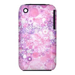 Lovely Allover Ring Shapes Flowers Pink Apple Iphone 3g/3gs Hardshell Case (pc+silicone) by MoreColorsinLife
