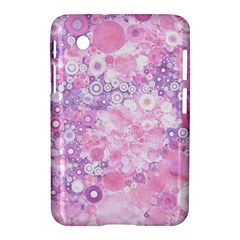 Lovely Allover Ring Shapes Flowers Pink Samsung Galaxy Tab 2 (7 ) P3100 Hardshell Case  by MoreColorsinLife