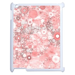 Lovely Allover Ring Shapes Flowers Apple Ipad 2 Case (white) by MoreColorsinLife