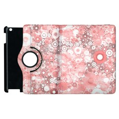 Lovely Allover Ring Shapes Flowers Apple Ipad 2 Flip 360 Case by MoreColorsinLife