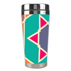 Red Retro Star Stainless Steel Travel Tumbler by LalyLauraFLM