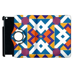 Shapes In Rectangles Pattern Apple Ipad 3/4 Flip 360 Case