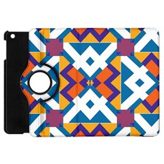 Shapes In Rectangles Pattern Apple Ipad Mini Flip 360 Case by LalyLauraFLM