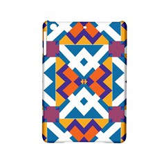 Shapes In Rectangles Pattern Apple Ipad Mini 2 Hardshell Case by LalyLauraFLM