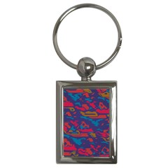 Chaos In Retro Colors Key Chain (rectangle) by LalyLauraFLM