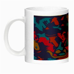 Chaos In Retro Colors Night Luminous Mug by LalyLauraFLM