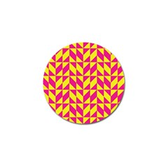 Pink And Yellow Shapes Pattern Golf Ball Marker (4 Pack) by LalyLauraFLM