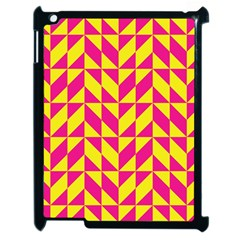 Pink And Yellow Shapes Pattern Apple Ipad 2 Case (black) by LalyLauraFLM