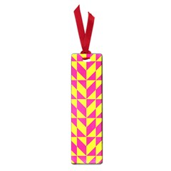 Pink And Yellow Shapes Pattern Small Book Mark by LalyLauraFLM