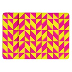 Pink And Yellow Shapes Pattern Samsung Galaxy Tab 8 9  P7300 Flip Case by LalyLauraFLM