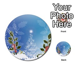 Christmas Tree Multi Purpose Cards (round)  by FantasyWorld7