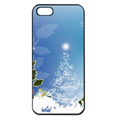 Christmas Tree Apple Iphone 5 Seamless Case (black) by FantasyWorld7