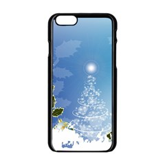 Christmas Tree Apple Iphone 6 Black Enamel Case by FantasyWorld7