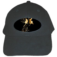 Beautiful Bird In Gold And Black Black Cap