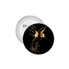 Beautiful Bird In Gold And Black 1 75  Buttons