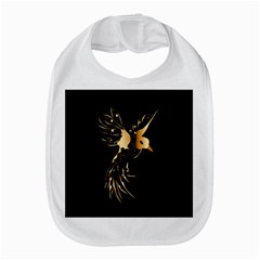 Beautiful Bird In Gold And Black Bib